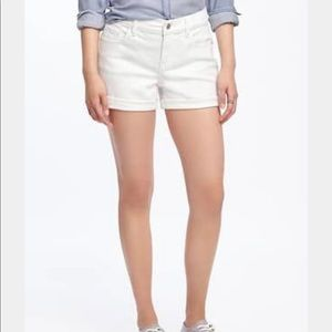 Old Navy White Boyfriend Jean Shorts